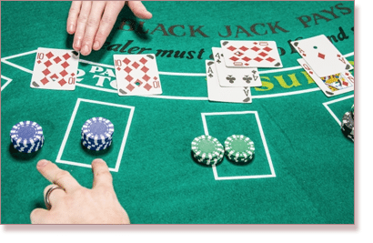 Blackjack surrender gesture