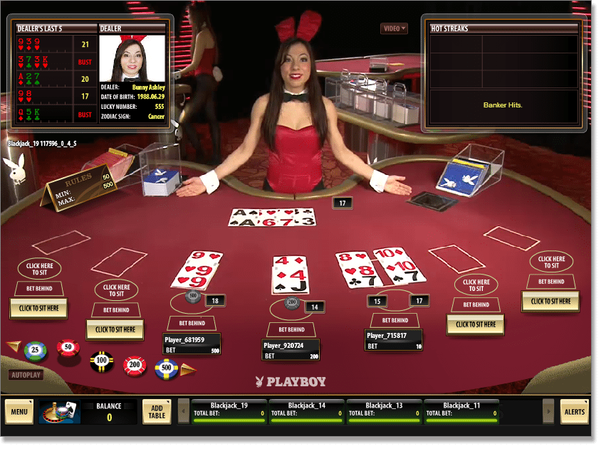 Play Live Casino Blackjack Online