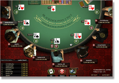 Online-Blackjack-Tournament