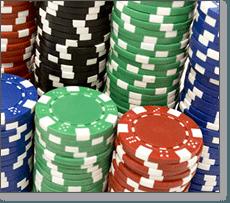 Casino chips for blackjack