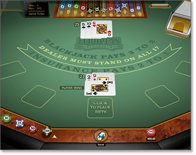 Microgaming European Blackjack Gold Series