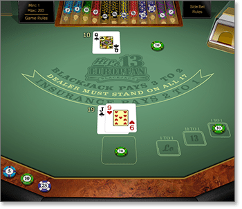Microgaming Hi-Lo 13 European Blackjack Gold Series