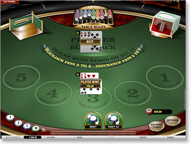 Blackjack Microgaming Online at Royal Vegas