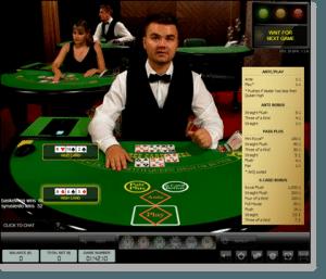 Live Dealer 3 Card Poker