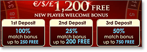 Get $1200 Free at Royal Vegas