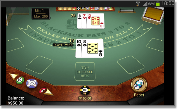 Android Blackjack for Mobiles and Tablets