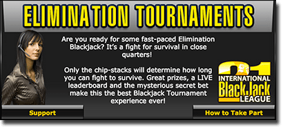 Sign up for the International Blackjack League and win AUD cash prizes