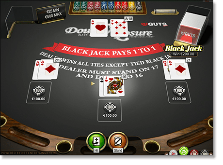 Play Double Exposure blackjack online