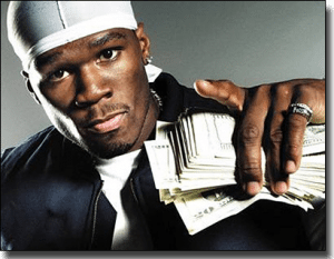 50 Cent - avid blackjack player