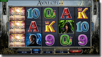 Play Avalon II online video slots by Microgaming
