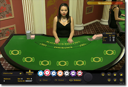 Live Dealer Blackjack at G'Day Casino