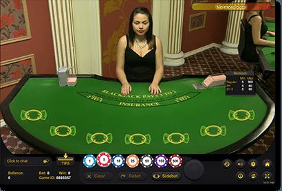 Live Dealer Blackjack at G'Day Casino