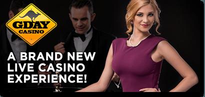 G'Day Casino live dealer 21