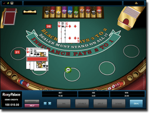 Microgaming classic blackjack at Royal Vegas Casino