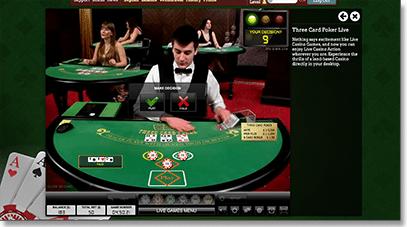 Leo Vegas live dealer blackjack