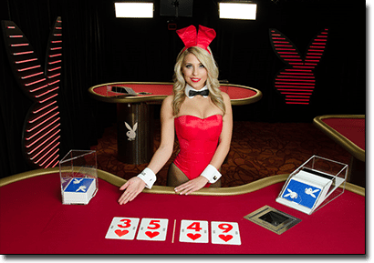 Playboy Bunny live dealer blackjack by Microgaming