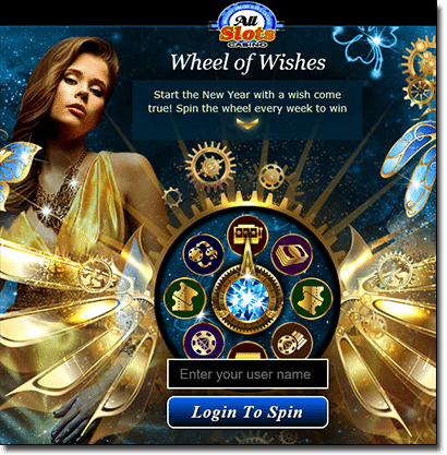All Slots Wheel of Wishes 2016