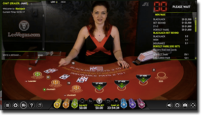 Extreme blackjack live dealer now at Leo Vegas
