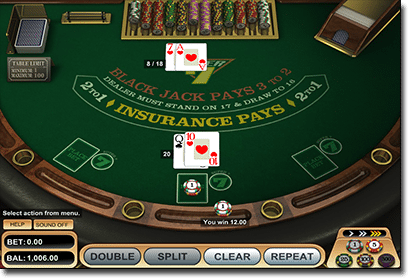 21 Prive Casino blackjack