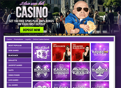 BGO.com blackjack games lobby