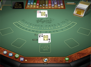 Blackjack Vegas Strip online RNG 21