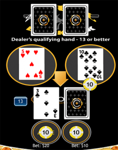 21 Duel Blackjack Hand