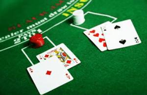 Blackjack double down win