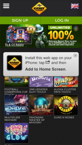 G'Day Casino mobile web app blackjack