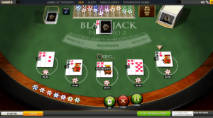 Blackjack Peek online by Playtech