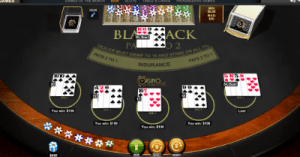 Blackjack Peek with multiple hands