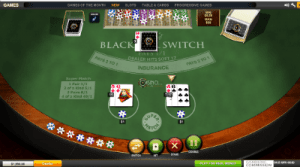 Blackjack Switch online by Playtech