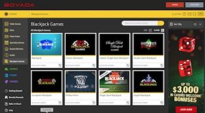 Bovada Casino blackjack games